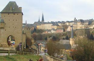 Sicht auf die Luxemburger Altstadt